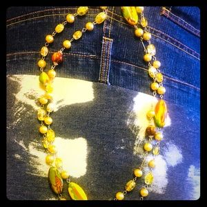 Long beaded necklace - Vintage!